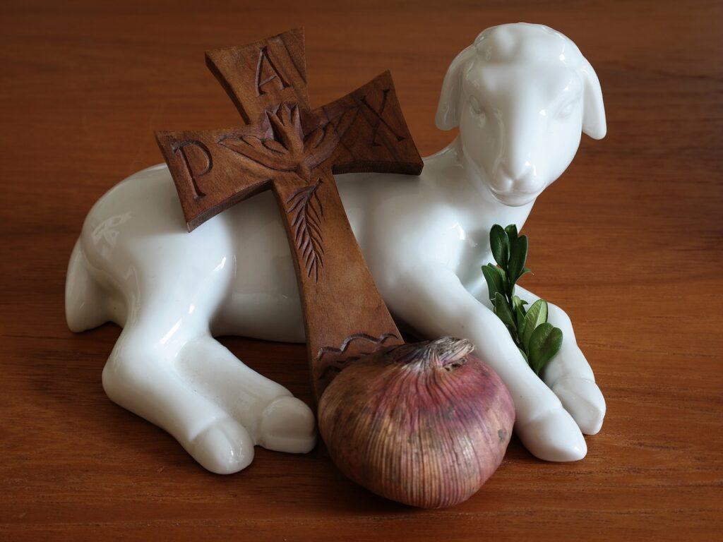 easter, lamb, cross