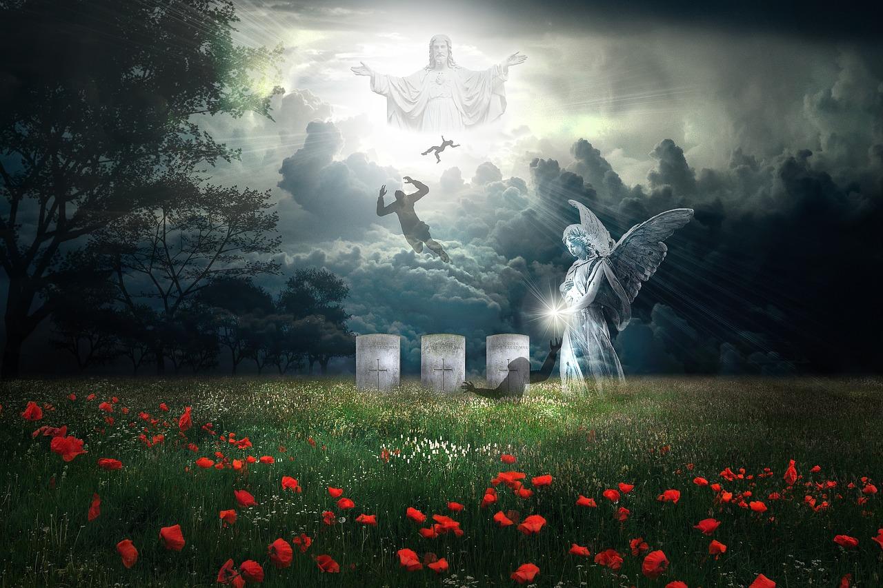 cemetery, gravestone, graves